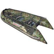 Лодка NISSAMARAN надувная, модель TORNADO 420, цвет зеленый-камуфляж (аллюм.пол) A/L