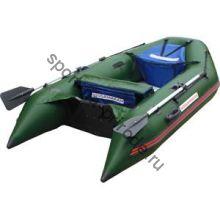 Лодка NISSAMARAN надувная, модель TORNADO 270, цвет зеленый  (аллюм. пол) A/L