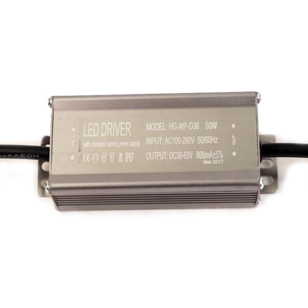 Драйвер для светодиодов 50W 600mA с проводами