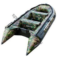 Лодка HDX надувная, модель CARBON 280 , цвет зелёный-камуфляж, (дерев. пол) P/L