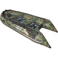 Лодка HDX надувная, модель OXYGEN 300 AL, цвет камуфляж зеленый