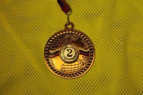 Медаль большая 70 мм 2 место