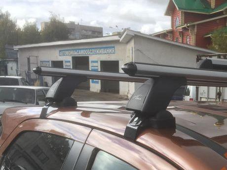 Багажник на крышу Ford Ecosport, Lux, аэродинамические дуги (53 мм)