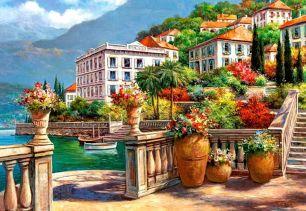 Картина по номерам Город у моря E575