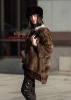 Меховые головные уборы из норки где купить пошить в Москве фото