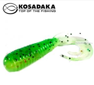 Твистер Kosadaka с разрезным хвостом Triple Tail 60, 10шт., цвет FTS TTL-060-FTS