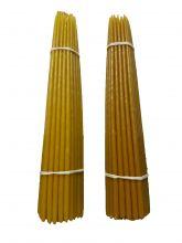 Восковые свечи третьего сорта №4 вес 410 гр высота 300 мм диаметр 7 мм в пачке 50 штук