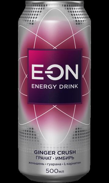 Энерг. напиток E-ON 0,5 ж/б Джинжер Краш (Имбирь/Гранат)