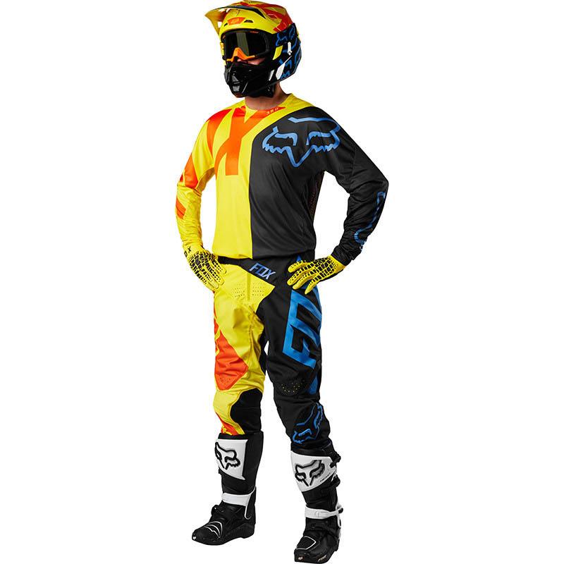 Fox - 2018 360 Preme Black/Yellow комплект джерси и штаны, черно-желтый