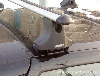 Багажник на крышу на Ладу Приору (Атлант, Россия), аэродинамические дуги