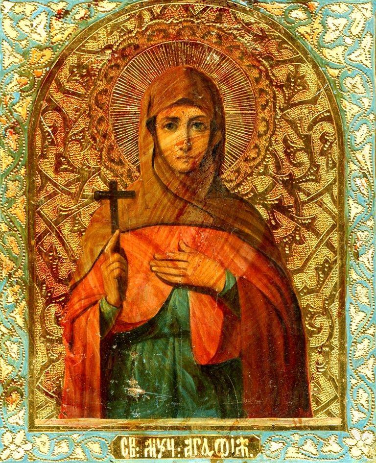 Икона Агафия Панормская (копия старинной)