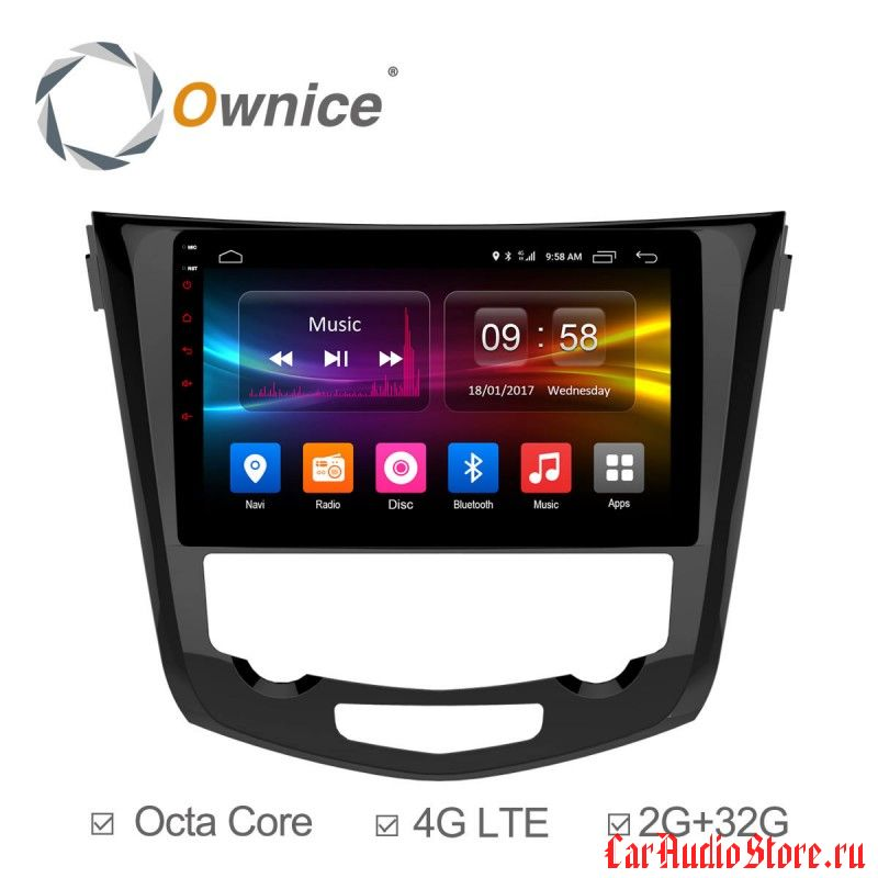 Ownice C500+ S1668P для Nissan X-trail 3 (Android 6.0)