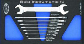 ACK-E38305 Набор ключей рожковых 6-23мм EVA Licota, 9 предметов.