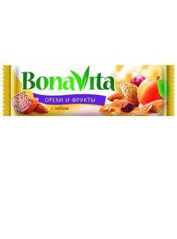 Батончик Бона Вита орехи и фрукты с мёдом 35г