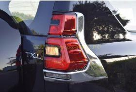 Хромированные накладки на заднию оптику для Toyota Land Cruiser Prado 150 2017 -