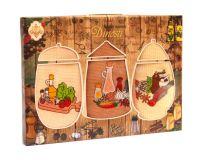 """Подарочный набор вафельных полотенец """" KITCHEN"""" (3шт) №0-973"""