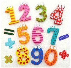 магниты на холодильник деревянные цифры
