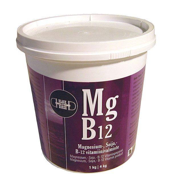 Black Horse MG B12 подкормка с магнием и витаминами группы В. 1 и 4 кг