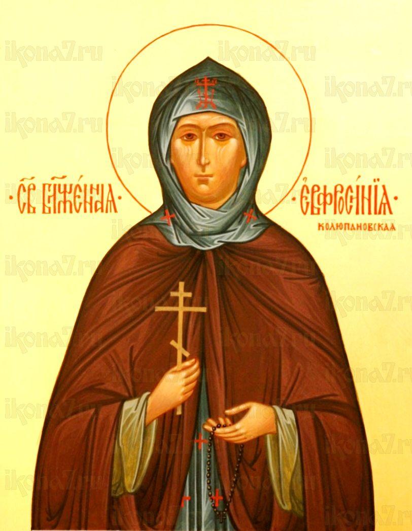 Евфросиния Колюпановская (икона на дереве)