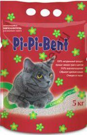 """Наполнитель""""Pi-Pi-Bent""""комкующийся  """"Сенсация свежести"""" пакет 5кг"""