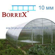 Теплица Фермер 5.6 х 32 с поликарбонатом 10 мм BorreX