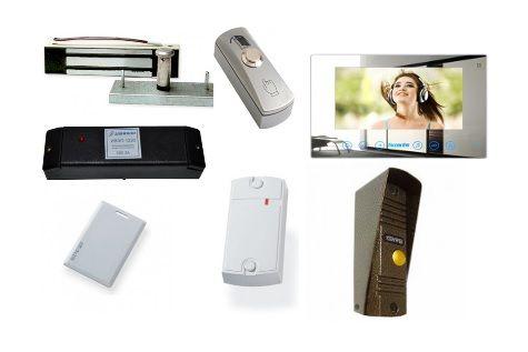 КСКДВ-14 Комплект системы контроля доступа с видеодомофоном для 1-ой двери весом до 100 кг.