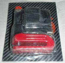 Замок диск. тормоза HC310 красный D-10мм с чехлом.