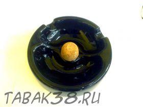 Пепельница для 2 трубок керамическая черная