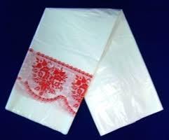Скатерть п/э (5 шт. в рулоне) Кайма красная