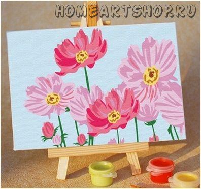 "Картина по номерам ""Цветы"" 10х15"