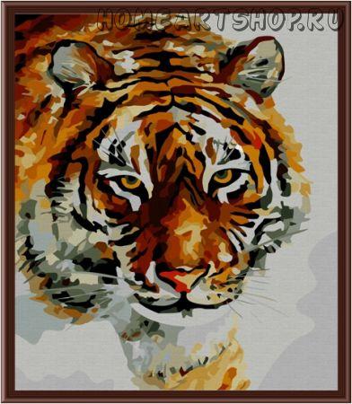 "Картина по номерам ""Зимний тигр"" 40х50"