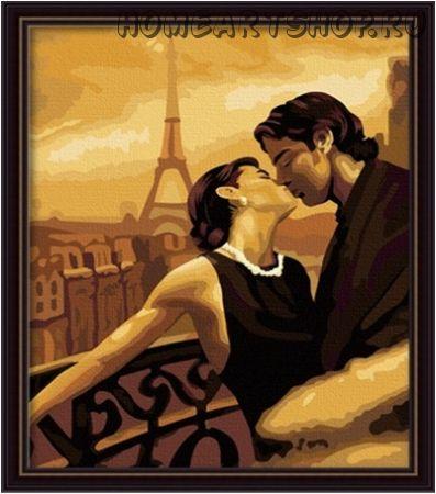 """Картина по номерам """"В городе любви"""""""