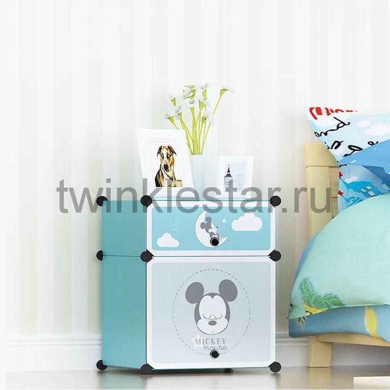 Детский складной шкаф Микки Маус, 45х35х52 см (2 отделения)