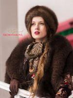 Меховой палантин купить в Москве фото