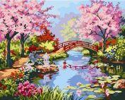 Раскраска по номерам "Японский сад" 40х50