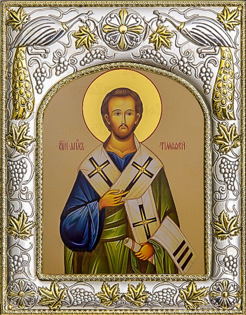 Тимофей, апостол (14х18), серебро