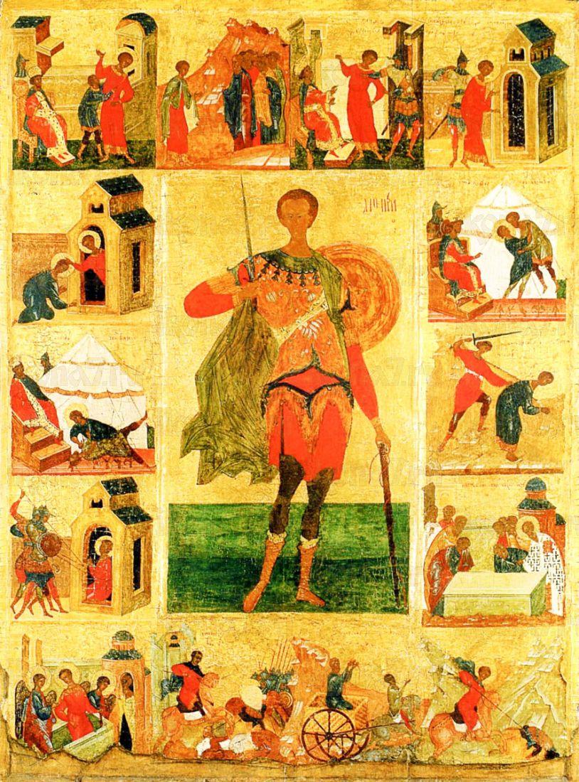 Димитрий Солунский (копия иконы 16 века)