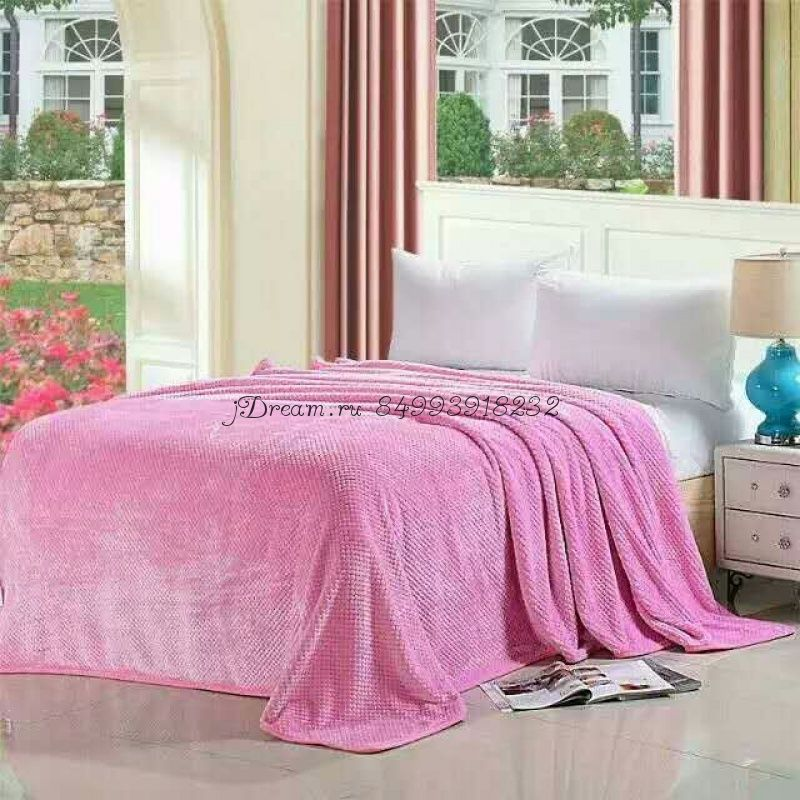 """Плед """"E-Shine"""" цвет розовый"""