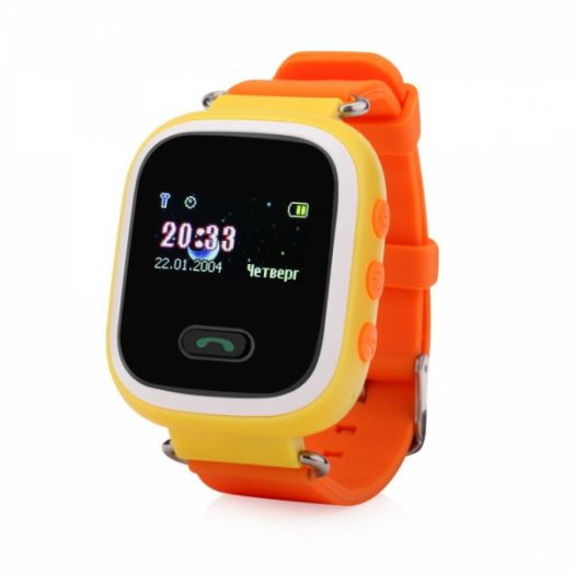 Smart часы детские с GPS GP-02 Жёлтые *