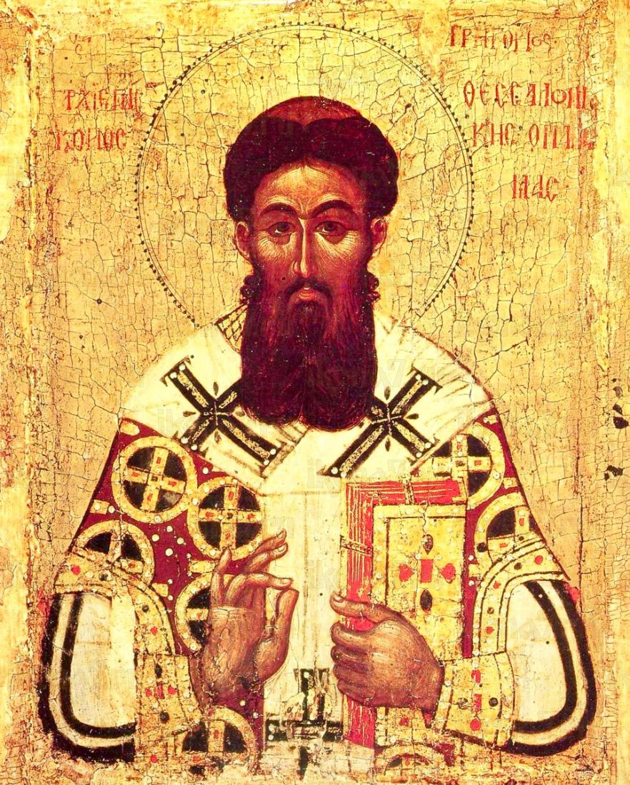 Икона Григорий Палама (копия 14 века)