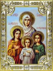 Вера, Надежда, Любовь и София (18х24), серебро
