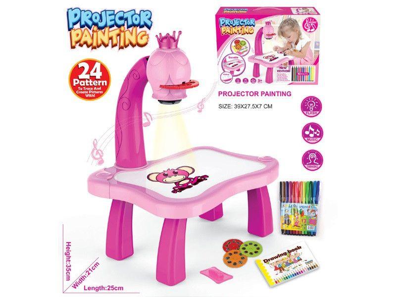 Детский Проектор Для Рисования Со Столиком PROJECTOR PAINTING, Розовый