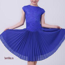 Платье для бальных танцев, синее