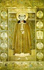 Икона Димитрий Угличский (копия 17 века)