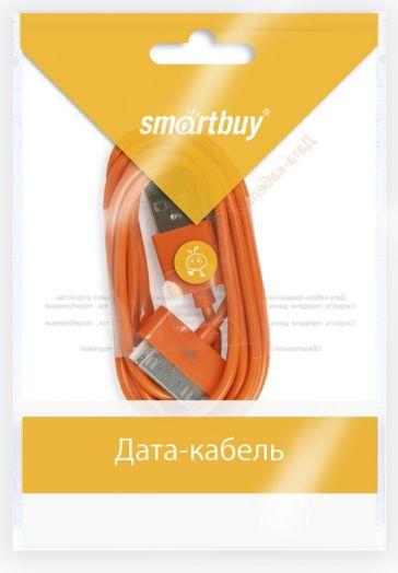 Шнур iPhone 4 - USB Smartbuy (оранжевый)