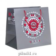 """Пакет бумажный подарочный """"Буди Баса"""" серый"""