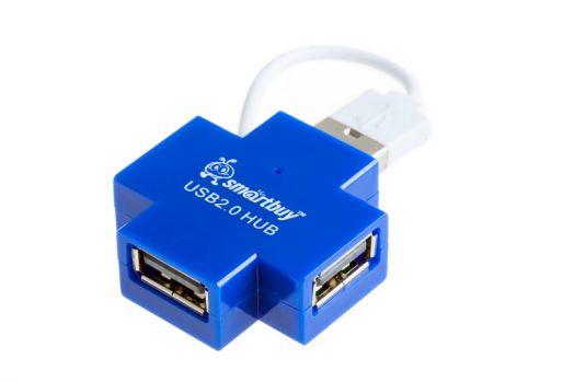 Концентратор USB (HUB) Smartbuy 4 порта голубой (SBHA-6900-B)