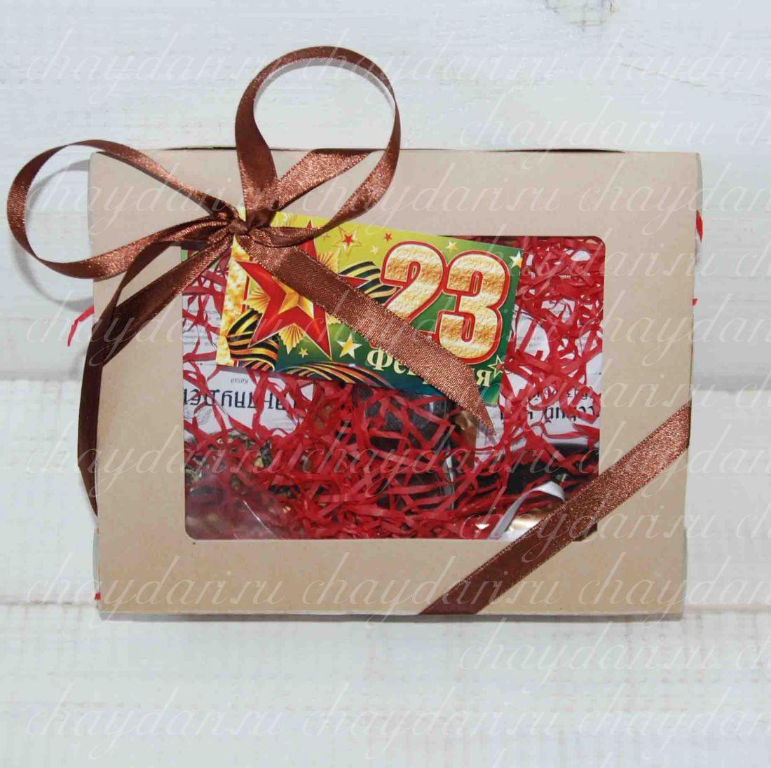 """Подарок из кофе и сладостей """"С 23 Февраля"""""""