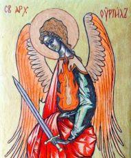 Уриил Архангел (икона на дереве)