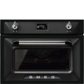 Компактный духовой шкаф с микроволновой печью Smeg SF4920MCN1